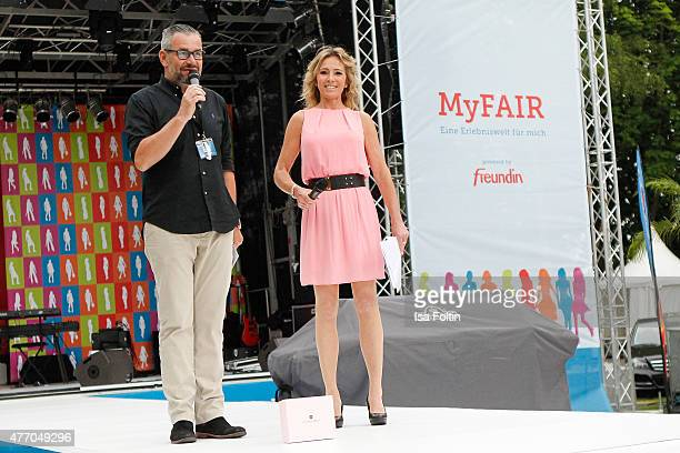 Ralf Kuehler and Gundis Zambo during the 'MyFair Eine Erlebniswelt fuer mich' In Essen on June 13 2015 in Essen Germany