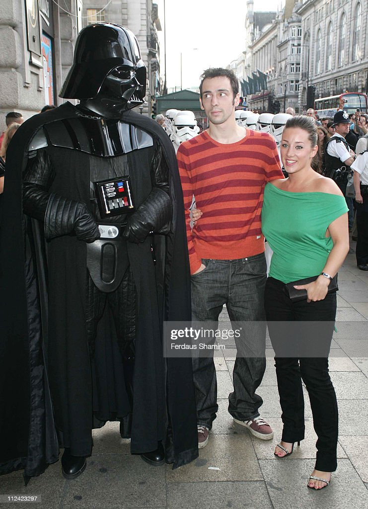 Ralf Little and guest with 'Darth Vader' during 'Star Wars Shortened' UK Gala Performance at Criterion Theatre in London Great Britain