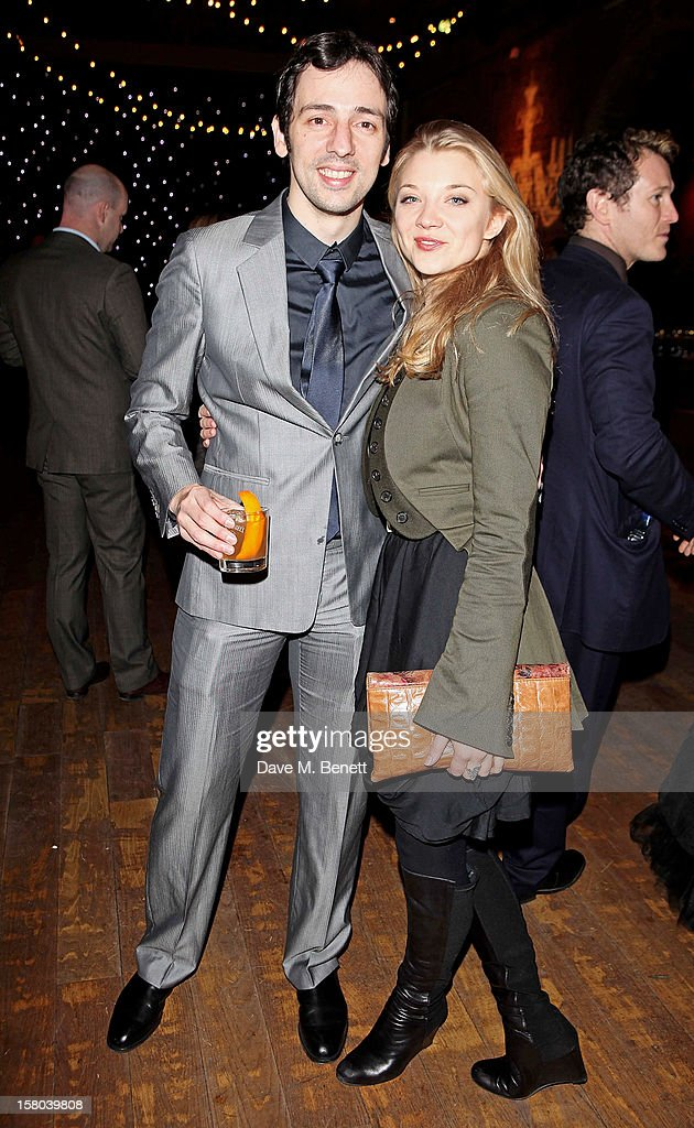 Ralf Little (L) and Natalie Dormer attend an after party celebrating the 24 Hour Musicals Gala Performance at Vinopolis on December 9, 2012 in London, England.