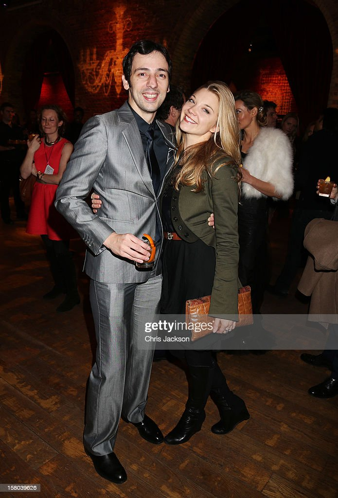 Ralf Little and Natalie Dormer attend the post-show party, The 25th Hour, following The Old Vic's 24 Hour Musicals Celebrity Gala 2012 during which guests drank Jack Daniels Single Barrel, Curtain Raiser cocktails in The Great Halls, Vinopolis, Borough on December 9, 2012 in London, England.