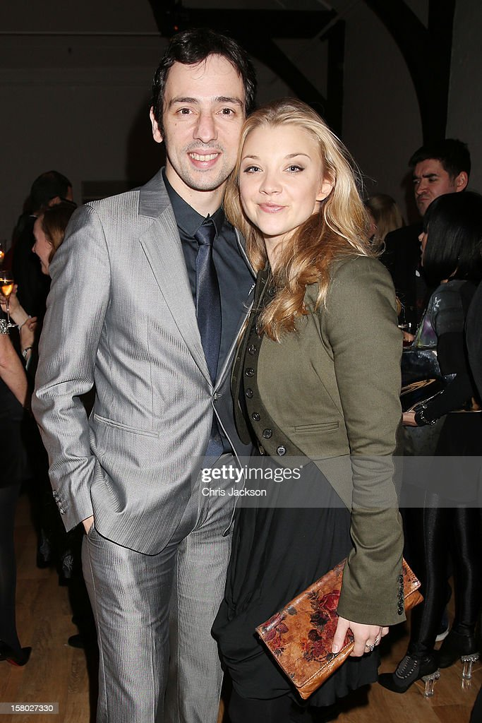 Ralf Little and Natalie Dormer attend the VIP backstage dinner ahead of this year's Old Vic 24 Hour Musicals Celebrity Gala at The Old Vic Theatre on December 9, 2012 in London, England.