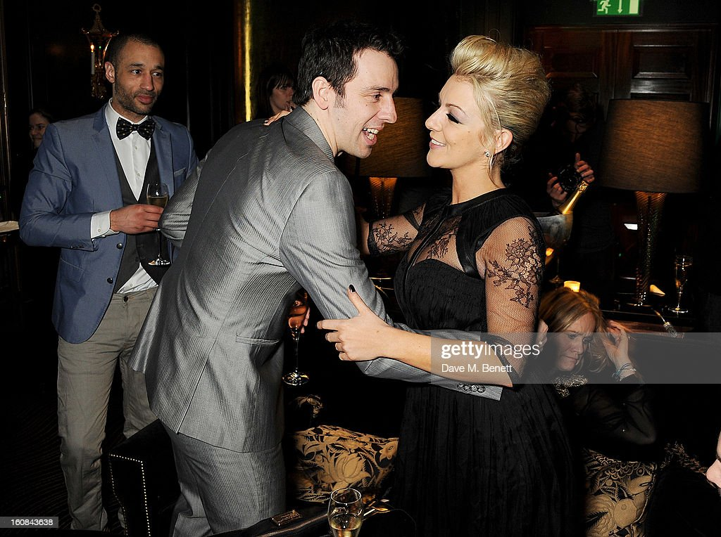 Ralf Little and Sheridan Smith attend the PreBAFTA Party hosted by EE and Esquire ahead of the 2013 EE British Academy Film Awards at The Savoy Hotel...