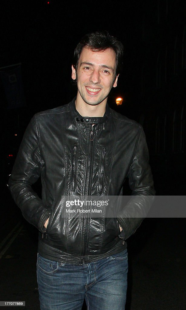 <a gi-track='captionPersonalityLinkClicked' href=/galleries/search?phrase=Ralf+Little&family=editorial&specificpeople=215197 ng-click='$event.stopPropagation()'>Ralf Little</a> at the Ivy Club to celebrate the birthday of David Walliams on August 20, 2013 in London, England.