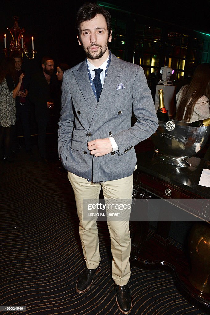 Ralf Little attends a party hosted by EE and Esquire at The Savoy Hotel ahead of the 2014 EE British Academy Film Awards on February 12 2014 in...
