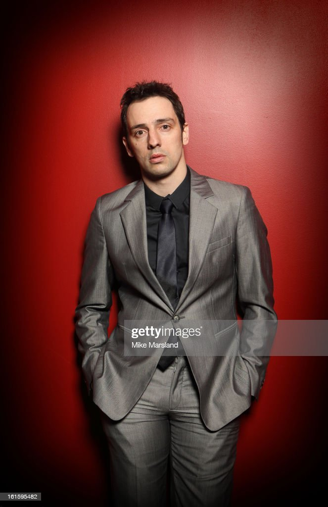 Ralf Little poses in the portrait studio at the PreBafta party hosted by EE and Esquire ahead of the 2013 EE British Academy Film Awards>> at The...