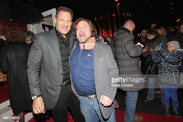 Ralf Moeller and Armin Rohde attend the Bild 'Place to B' Party during the 64th Berlinale International Film Festival on February 8 2014 in Berlin...