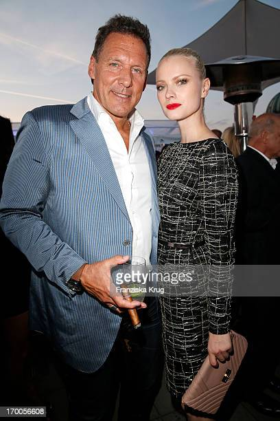 Ralf Moeller and Franziska Knuppe attend the Bertelsmann Summer Party at the Bertelsmann representative office on June 6 2013 in Berlin Germany