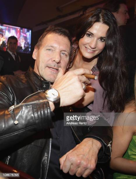 Ralf Moeller and Mariella von FaberCastell attend the Lambertz Monday Night 2011 Schoko Fashion party at the Alten Wartesaal on January 31 2011 in...