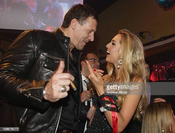 Ralf Moeller and Rosanna Davison attend the Lambertz Monday Night 2011 Schoko Fashion party at the Alten Wartesaal on January 31 2011 in Cologne...