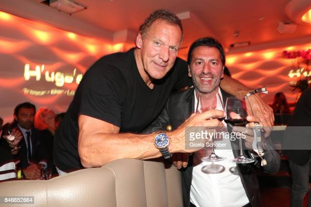 Ralf Moeller and Ugo Crocamo host of H'Ugo's during the 3rd Pixx Lounge Party at H'ugo's on September 13 2017 in Munich Germany