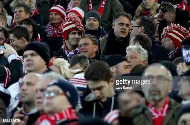 Ralf Rangnick sport director of Leipzig is seen during the Bundesliga match between Borussia Dortmund and RB Leipzig at Signal Iduna Park on February...