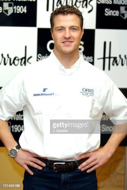Ralf Schumacher during Ralf Schumacher Celebrates Oris Watches 100th Birthday at Harrods in London Great Britain