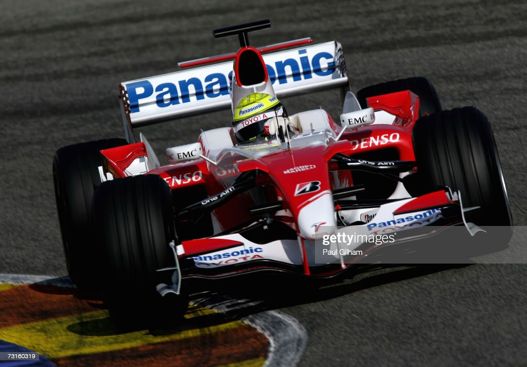 Ralf Schumacher of Germany and Toyota in action during Formula One testing at the Circuit Ricardo Tormo on January 31 2007 in Valencia Spain