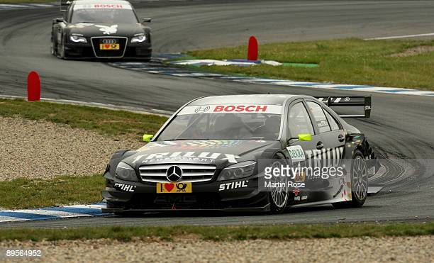 Ralf Schumacher of Germany and Trilux AMG Mercedes in action during the DTM 2009 German Touring Car Championship at the Motorsport Arena on August 2...