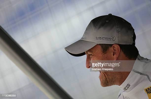Ralf Schumacher of Germany is seen in the pits during the DTM 2011 German Touring Car Championship at Red Bull Ring on June 3 2011 in Spielberg...