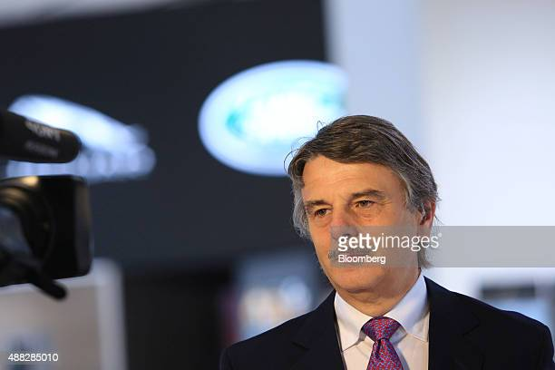 Ralf Speth chief executive officer of Jaguar Land Rover Plc pauses during a Bloomberg Television interview during previews to IAA Frankfurt Motor...