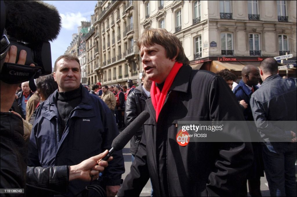 Rally against CPE labor law in Paris France on April 04 2006