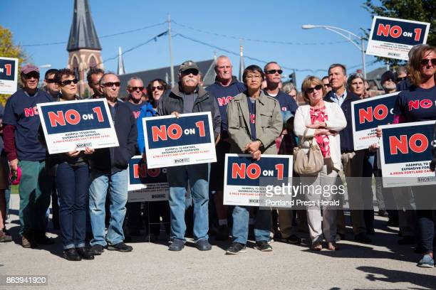 A rally in Lincoln Park on Thursday Oct 12 opposing a city ballot initiative to impose rent control drew well over a 100 participants It was...