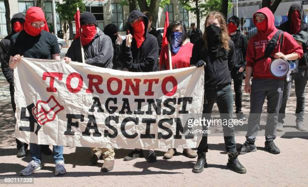 Rally in support of diversity strength and solidarity with oppressed groups in downtown Toronto Ontario Canada on June 03 2017 Protesters gathered to...