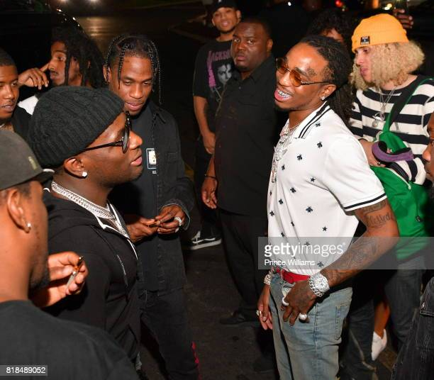 Ralo Travis Scott and Quavo attend Travis Scott after Party at Medusa Lounge on July 18 2017 in Atlanta Georgia