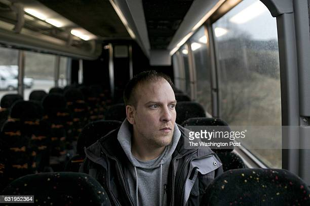 Ralph Case posed for a portrait at Anderson the bus company contracted to take his group to inauguration in Brecksville Ohio on January 16 2017 [[[...