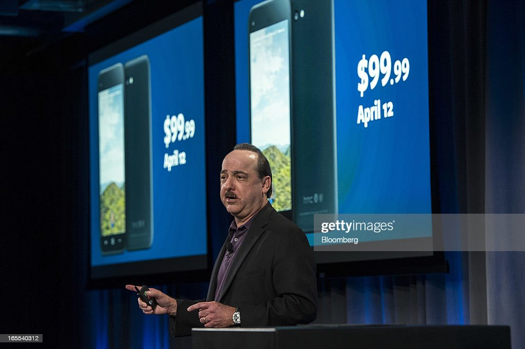 Ralph de la Vega, president and chief executive officer of AT&T Mobility, speaks during an event at Facebook Inc. headquarters in Menlo Park, California on Thursday, April 4, 2013. Facebook unveiled smartphone software called Home that puts social-networking features front and center on a handset, stepping up efforts to boost sales of advertising on small screens. Photographer: David Paul Morris/Bloomberg via Getty Images News