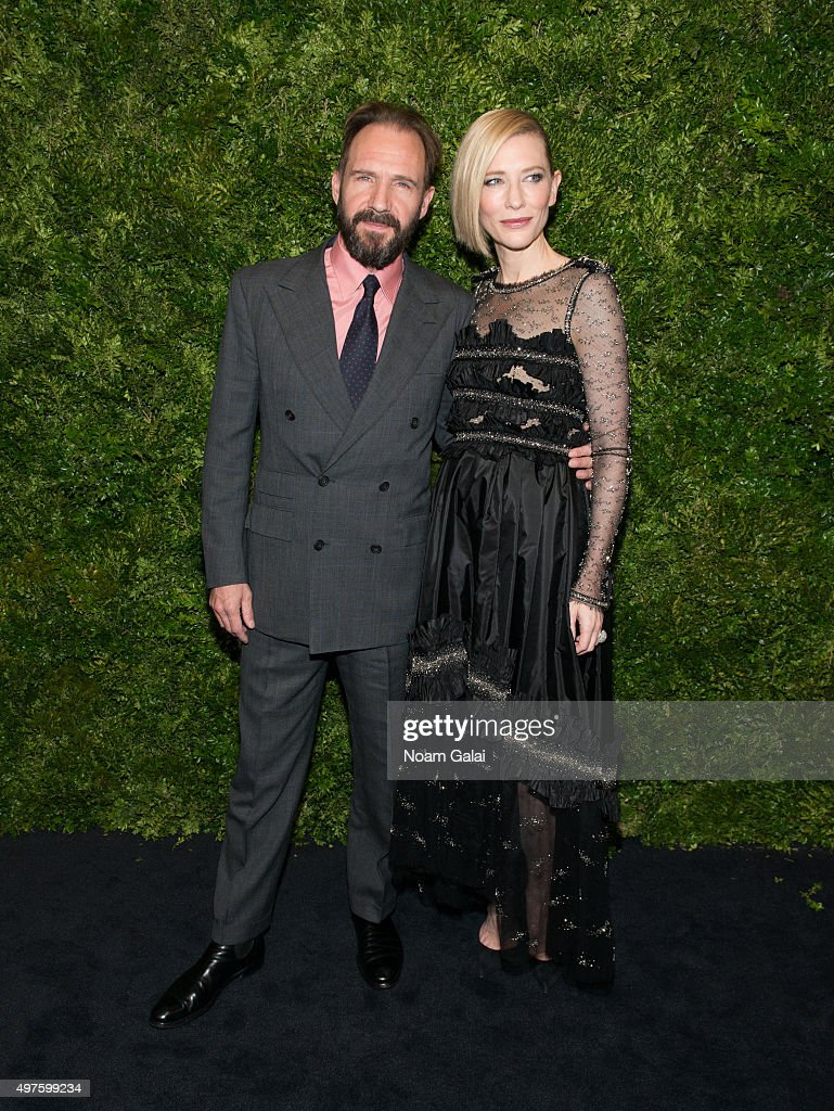 Ralph Fiennes and Cate Blanchett attend the 8th Annual Museum Of Modern Art Film Benefit honoring Cate Blanchett at Museum of Modern Art on November 17, 2015 in New York City.