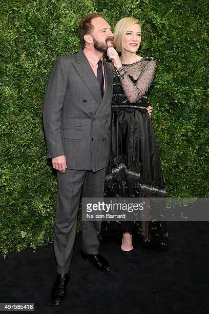 Ralph Fiennes and Cate Blanchett attend the Museum of Modern Art's 8th Annual Film Benefit Honoring Cate Blanchett at the Museum of Modern Art on...