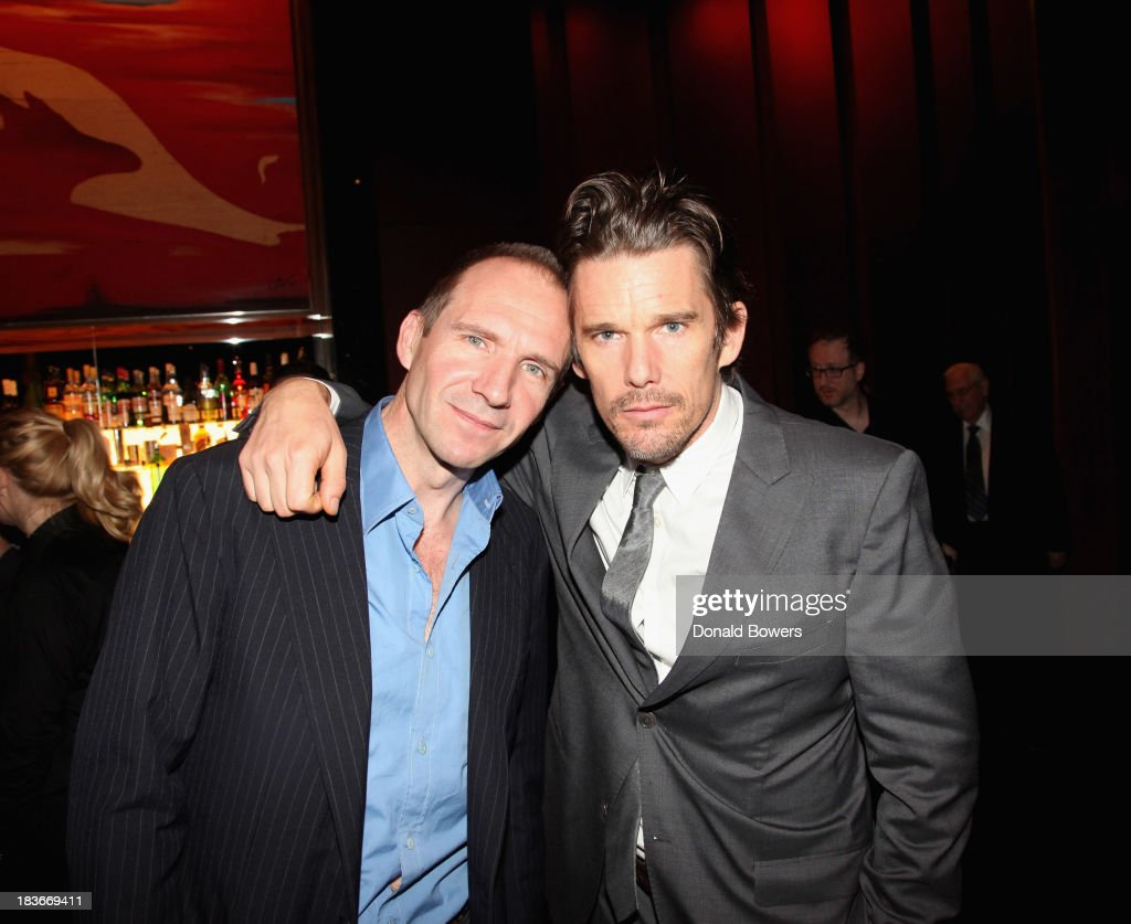 <a gi-track='captionPersonalityLinkClicked' href=/galleries/search?phrase=Ralph+Fiennes&family=editorial&specificpeople=206461 ng-click='$event.stopPropagation()'>Ralph Fiennes</a> and <a gi-track='captionPersonalityLinkClicked' href=/galleries/search?phrase=Ethan+Hawke&family=editorial&specificpeople=178274 ng-click='$event.stopPropagation()'>Ethan Hawke</a> attend The Academy Of Motion Picture Arts And Sciences Hosts The New York Member Receptio on October 8, 2013 in New York City.