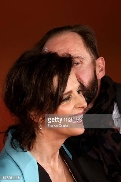 Ralph Fiennes and Juliette Binoche walk a red carpet for 'The English Patient Il Paziente Inglese' during the 11th Rome Film Festival at Auditorium...
