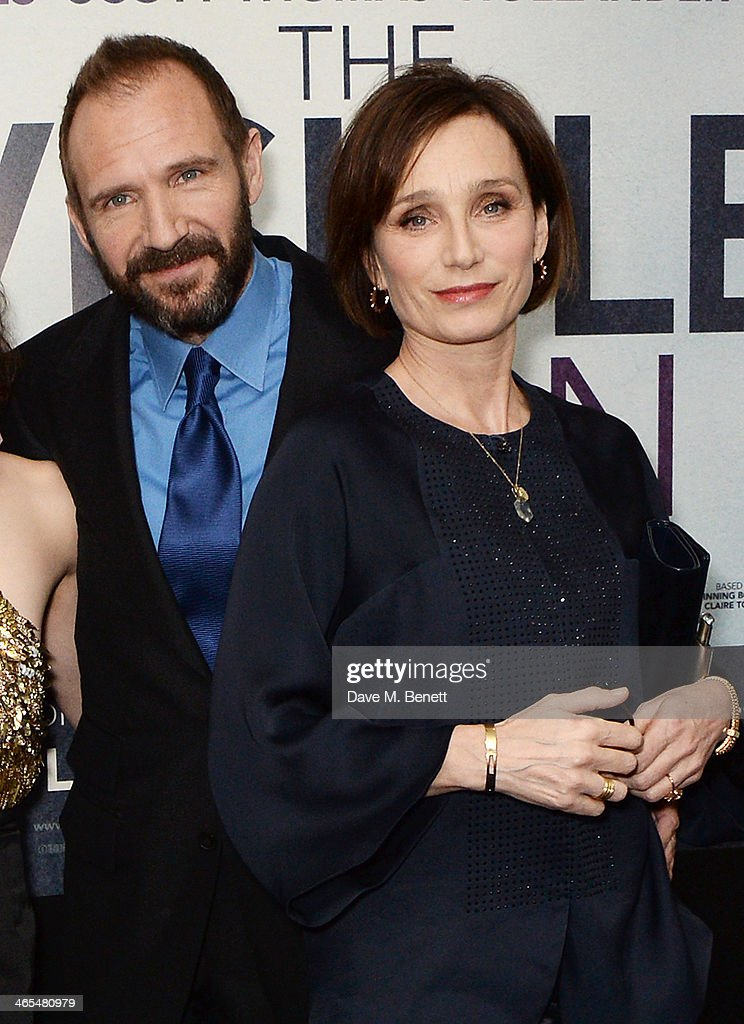 <a gi-track='captionPersonalityLinkClicked' href=/galleries/search?phrase=Ralph+Fiennes&family=editorial&specificpeople=206461 ng-click='$event.stopPropagation()'>Ralph Fiennes</a> (L) and <a gi-track='captionPersonalityLinkClicked' href=/galleries/search?phrase=Kristin+Scott+Thomas&family=editorial&specificpeople=203290 ng-click='$event.stopPropagation()'>Kristin Scott Thomas</a> attend the UK Premiere of 'The Invisible Woman' at the ODEON Kensington on January 27, 2014 in London, England.