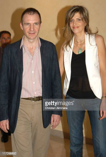 Ralph Fiennes and Martha Fiennes during 2005 Cannes Film Festival Chromophobia Photocall at Terrasse Riviera in Cannes France