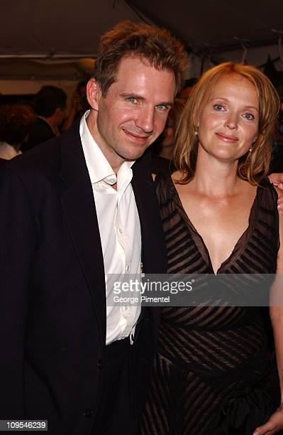 Ralph Fiennes and Miranda Richardson during 2002 Toronto Film Festival 'Spider' Premiere in Toronto Ontario Canada