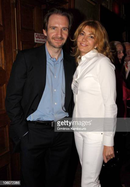 Ralph Fiennes and Natasha Richardson during 60th Annual Tony Awards Reunion Photo at Shubert Theatre in New York City New York United States