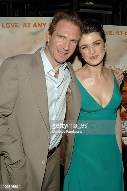 Ralph Fiennes and Rachel Weisz during 'The Constant Gardener' New York Premiere Inside Arrivals at Loews Lincoln Center in New York City New York...