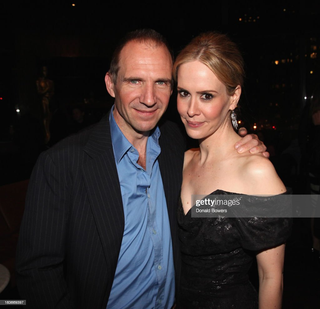 Ralph Fiennes and Sarah Paulson attend The Academy Of Motion Picture Arts And Sciences Hosts The New York Member Receptio on October 8 2013 in New...