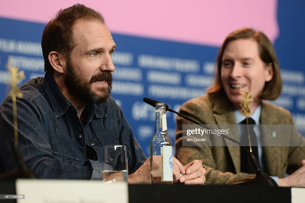 <a gi-track='captionPersonalityLinkClicked' href=/galleries/search?phrase=Ralph+Fiennes&family=editorial&specificpeople=206461 ng-click='$event.stopPropagation()'>Ralph Fiennes</a> and <a gi-track='captionPersonalityLinkClicked' href=/galleries/search?phrase=Wes+Anderson&family=editorial&specificpeople=217728 ng-click='$event.stopPropagation()'>Wes Anderson</a> attend 'The Grand Budapest Hotel' press conference during 64th Berlinale International Film Festival at Grand Hyatt Hotel on February 6, 2014 in Berlin, Germany.