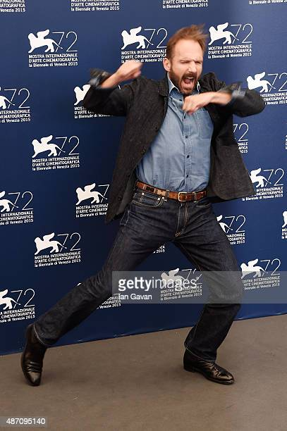 Ralph Fiennes attends a photocall for 'A Bigger Splash' during the 72nd Venice Film Festival at Palazzo del Casino on September 6 2015 in Venice Italy