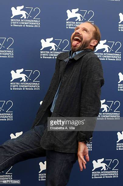Ralph Fiennes attends a photocall for 'A Bigger Splash' during the 72nd Venice Film Festival at on September 6 2015 in Venice Italy