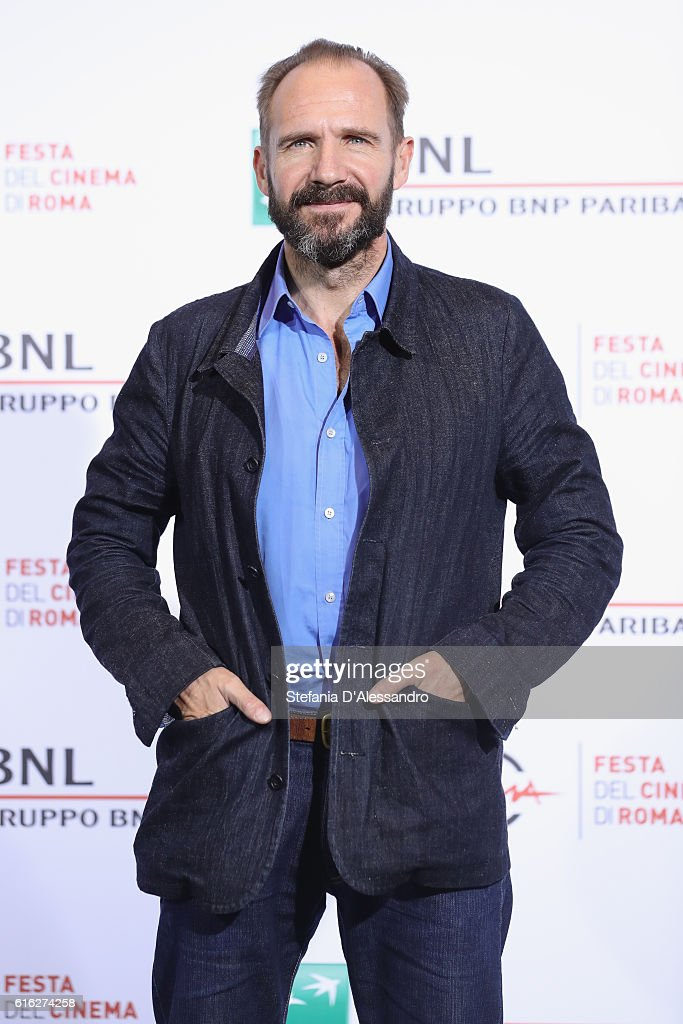Ralph Fiennes attends a photocall for 'The English Patient - Il Paziente Inglese' during the 11th Rome Film Festival at Auditorium Parco Della Musica on October 22, 2016 in Rome, Italy.