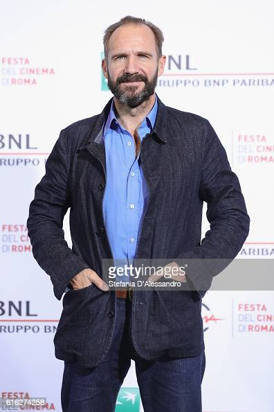 Ralph Fiennes attends a photocall for 'The English Patient Il Paziente Inglese' during the 11th Rome Film Festival at Auditorium Parco Della Musica...