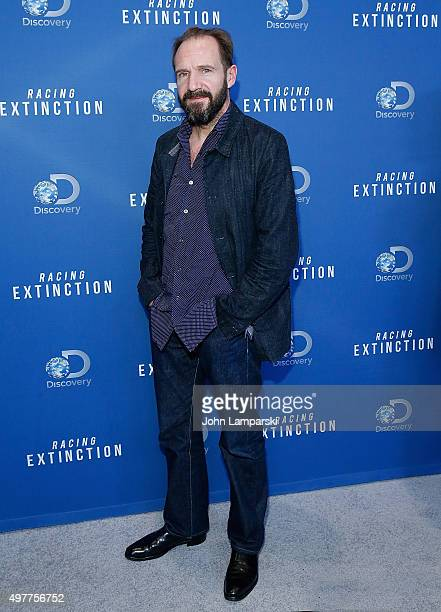 Ralph Fiennes attends 'Racing Extinction' New York premiere at TheTimesCenter on November 18 2015 in New York City