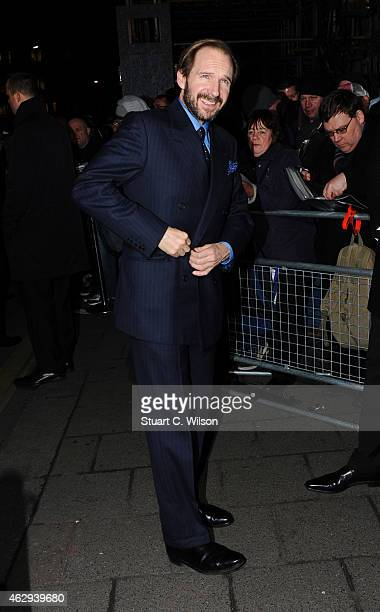 Ralph Fiennes attends the Charles Finch CHANEL PreBAFTA party at Annabel's on February 7 2015 in London England