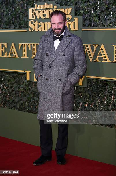 Ralph Fiennes attends the Evening Standard Theatre Awards at The Old Vic Theatre on November 22 2015 in London England