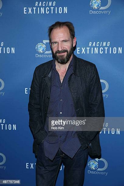 Ralph Fiennes attends the New York Premiere of 'Racing Extinction' at The Times Center on November 18 2015 in New York City