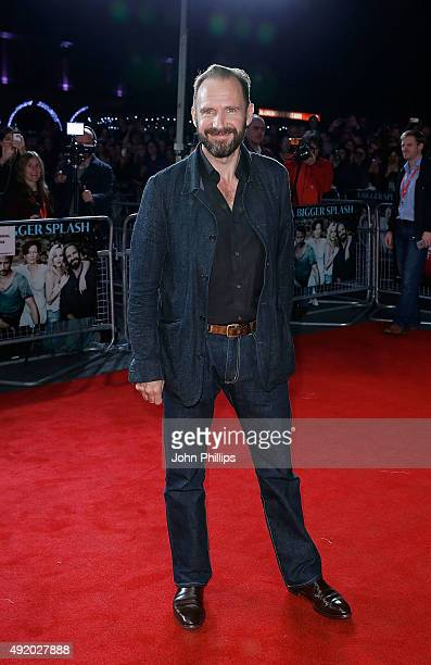 Ralph Fiennes attends the screening of A Bigger Splash during the BFI London Film Festival at Odeon Leicester Square on October 9 2015 in London...