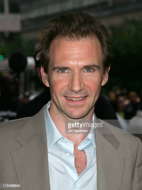 Ralph Fiennes during 'The Constant Gardener' New York City Premiere Outside Arrivals at Loews Lincoln Square in New York City New York United States