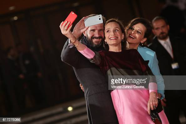 Ralph Fiennes Kristin Scott Thomas and Juliette Binoche walk a red carpet for 'The English Patient Il Paziente Inglese' during the 11th Rome Film...
