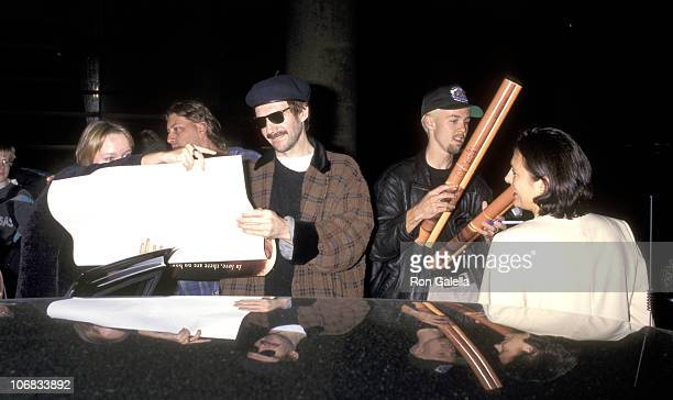 Ralph Fiennes with fans during Ralph Fiennes and Francesca Annia Sighting at the Los Angeles International Airport March 23 1997 at Los Angeles...