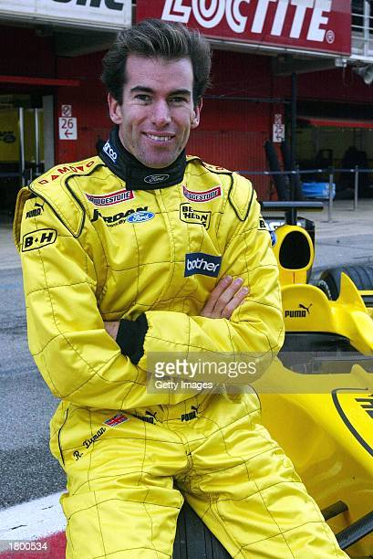 Ralph Firman Jnr tests the newley livered Jordan EJ13 at the Circuit de Catalunya Barcelona on February 17 2003 in Barcelona Spain